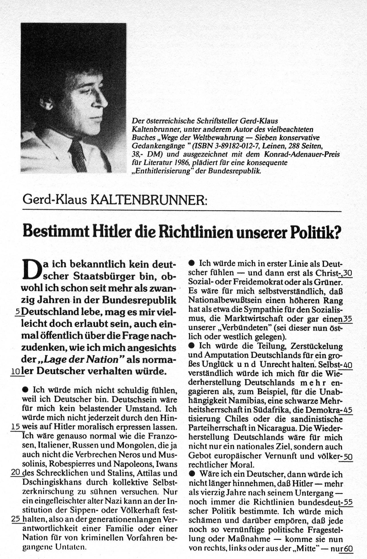 """""""Bestimmt Hitler die Richtlinien unserer Politik?"""""""