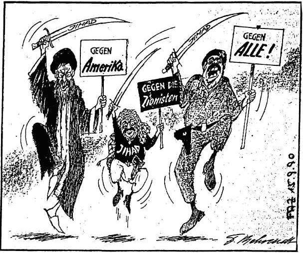 """""""Der irre Saddam setzt seinen Krummdolch an meine Gurgel!"""""""