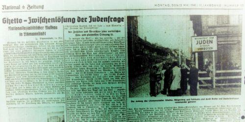 Abbildung 1 (Stadtarchiv Duisburg, MD). National Zeitung, 13.5.1940