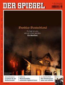Spiegel dunkles Deutschland