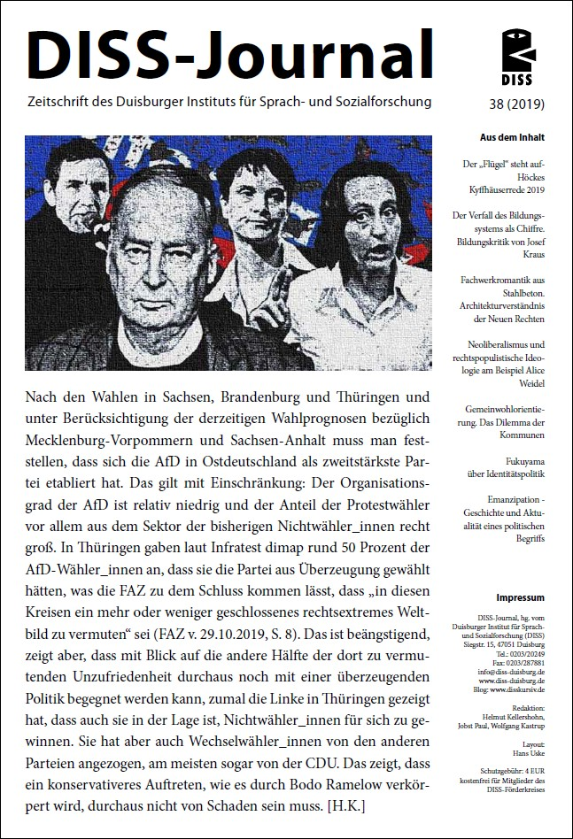 DISS-Journal 38 erschienen